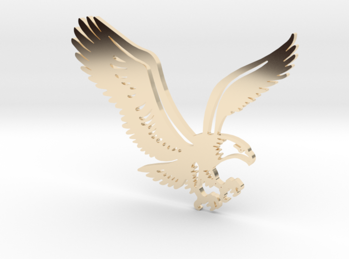 Eagle without hole 3d printed