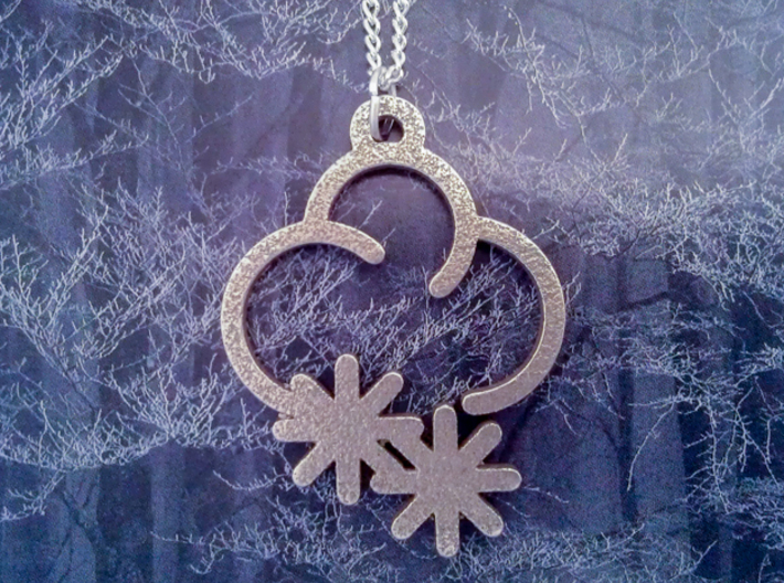 Frosty Cloud - Weather Symbol Pendant 3d printed