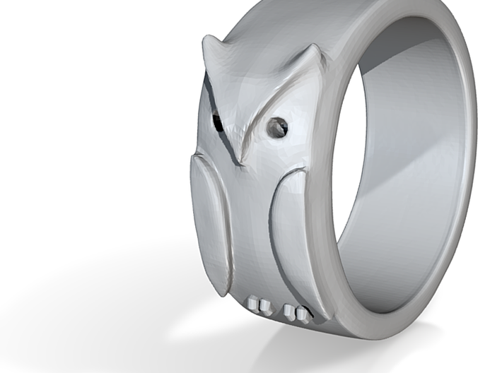 Owl Ring: (various sizes) 3d printed
