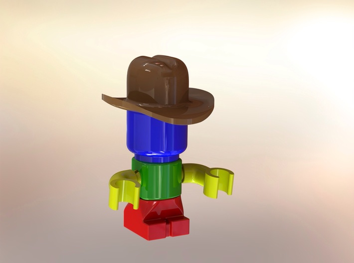 Assem1 - Cowboy Hat-1 3d printed The hat on the prototype figure
