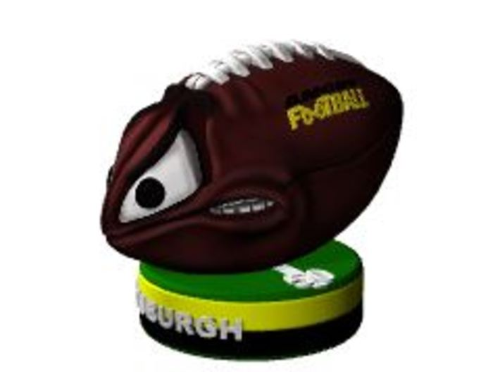AngryFootballColor 3d printed Angry Football Collectable