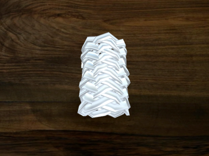 Turk's Head Knot Ring 14 Part X 6 Bight - Size 0 3d printed