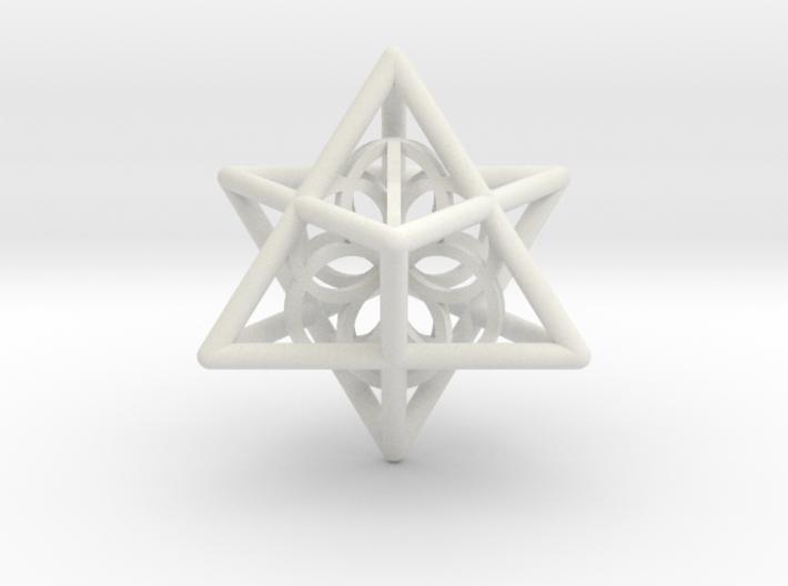 Merkaba Seed Of Life Pendant 3d printed