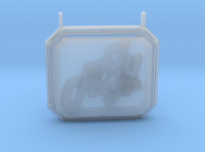 Retro Pendant 3d printed