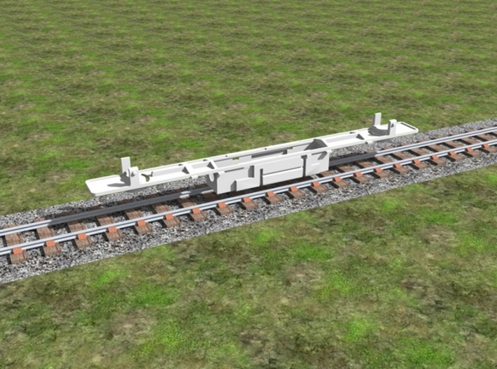 Atlas Alco C-628 Dummy Chassis Kit - N Scale 1:160 3d printed Chassis