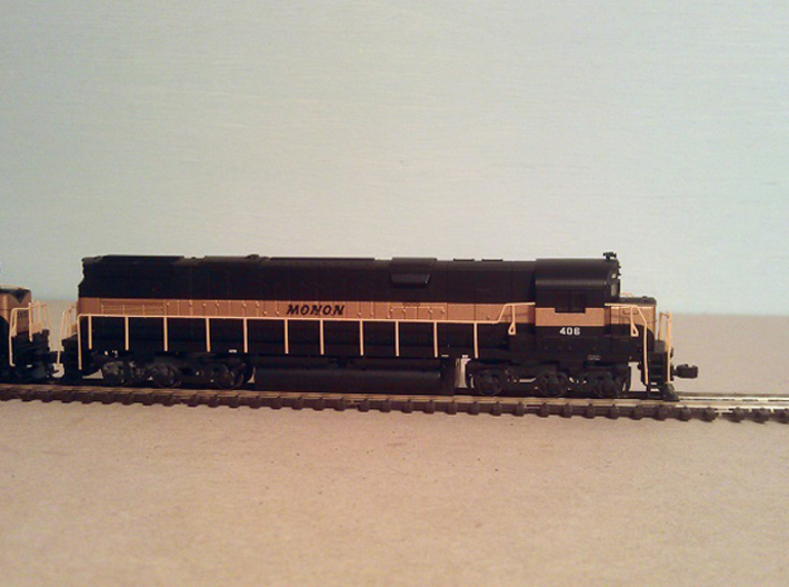 Atlas Alco C-628 Dummy Chassis Kit - N Scale 1:160 3d printed C-628 with Fitted Dummy Chassis