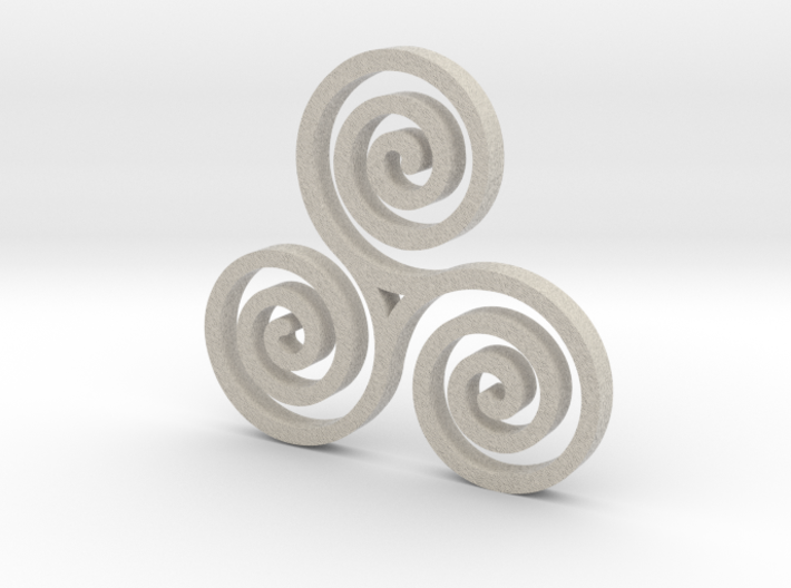 Triple Spiral 3d printed