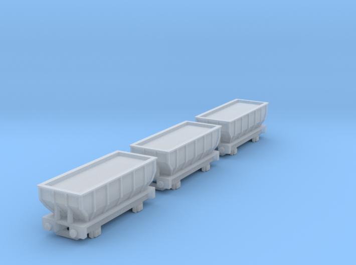 T-gauge 3 Hoppers - Custom Wheels, see description 3d printed