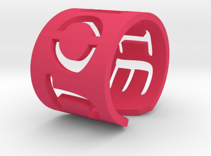 Bangle with your name in it 3d printed
