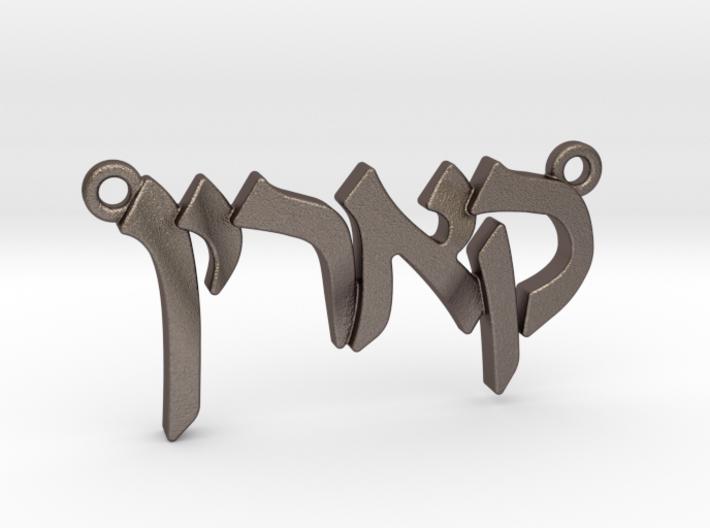 """Hebrew Name Pendant - """"Carine"""" 3d printed"""