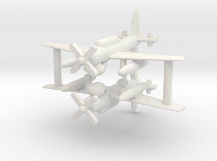 1/285 AD-4W (AEW.1) Skyraider (x2) 3d printed