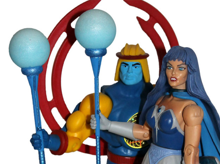 MOTUC Brightmoon Guard Orb Staff (male version) 3d printed Painted Prototype printed in White Strong & Flexible Polished