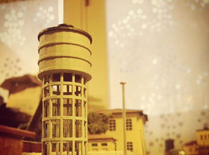 Z Scale Water Tower FS Italian Railways 3d printed