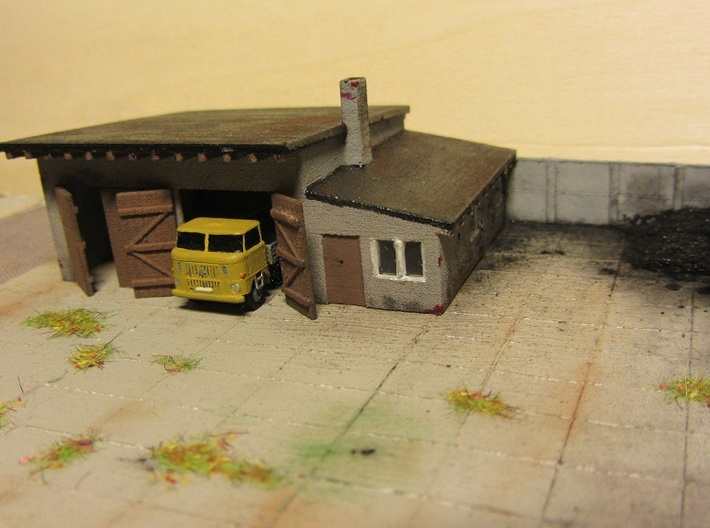 LKW-Garage (Z, 1:220) 3d printed