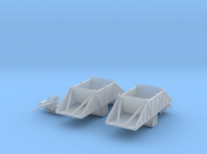 1/64th Cross gate 24' belly dump double trailers 3d printed
