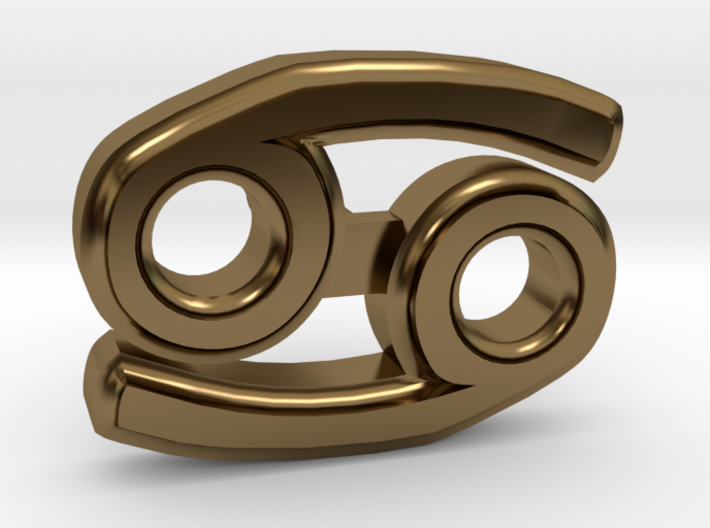 Cancer Ear Ring 3d printed