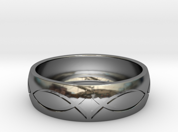 Size 10 Ring engraved 3d printed