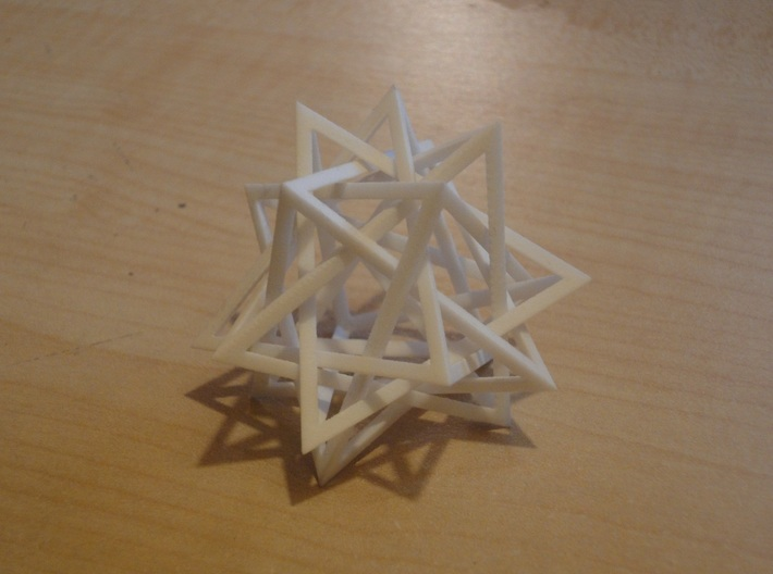 interlocked pyramids 3d printed