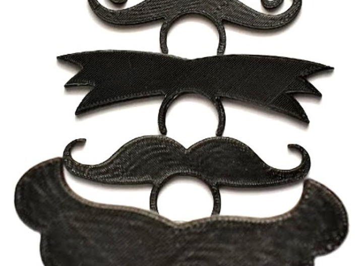 Beer Bottle Mustache 8 - The Number 2  3d printed Mustache Beer Bottle ID Tags