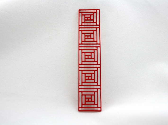 Log Cabin Bookmark 3d printed