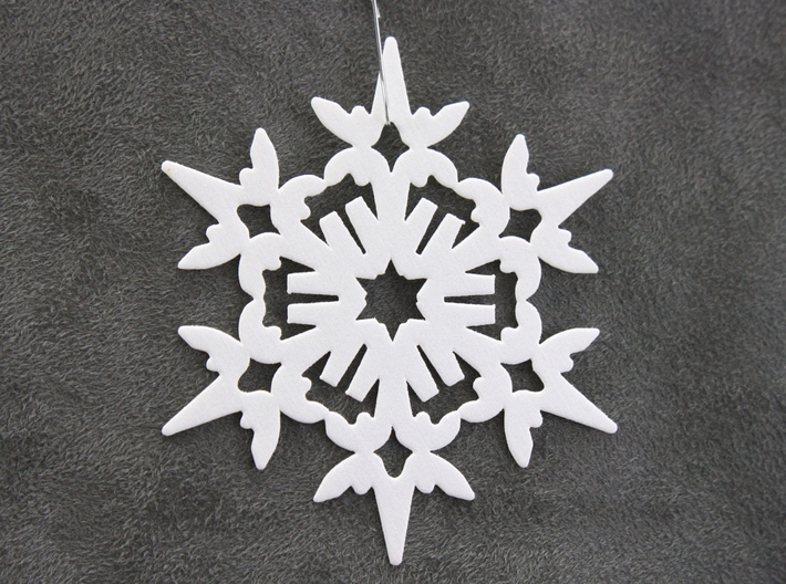 Wings Snowflake - Flat 3d printed