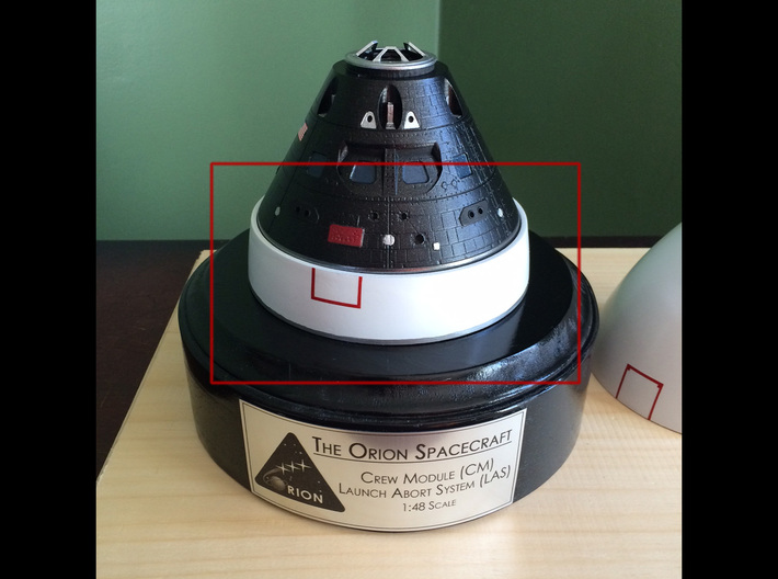 Orion BPC LAS Adapter 1:48 3d printed