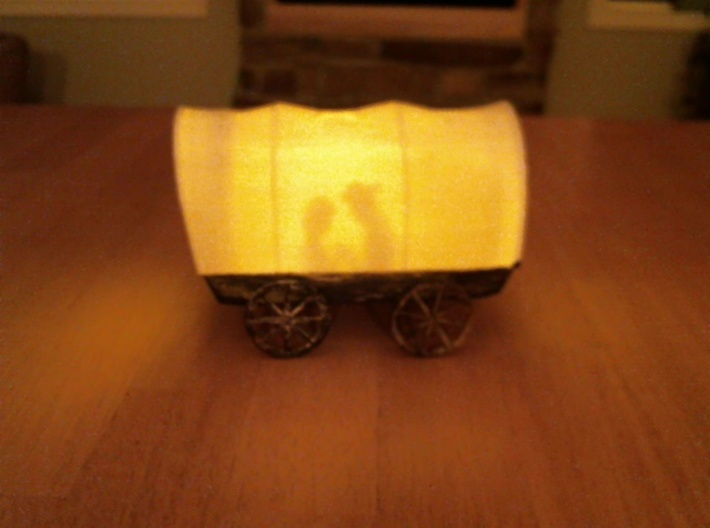 Prayer Covered Wagon Lamp 3d printed Print from desktop printer prototype
