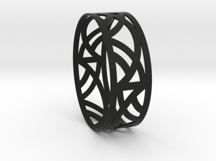 Art Deco Bangle Bracelet  3d printed