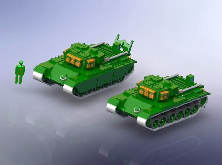 British Centurion ARV Mk. 1 1/285 6mm 3d printed Add a caption...