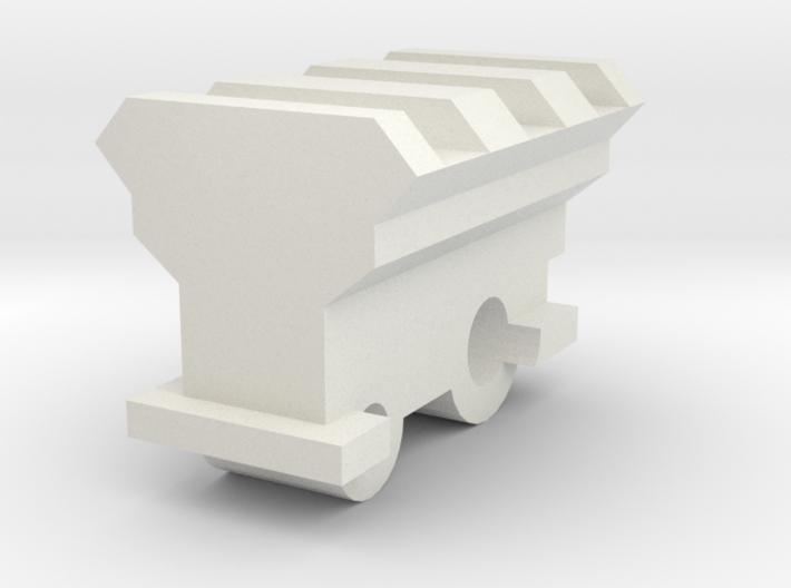 20mm rail mount for Nerf Retaliator Barrel 3d printed