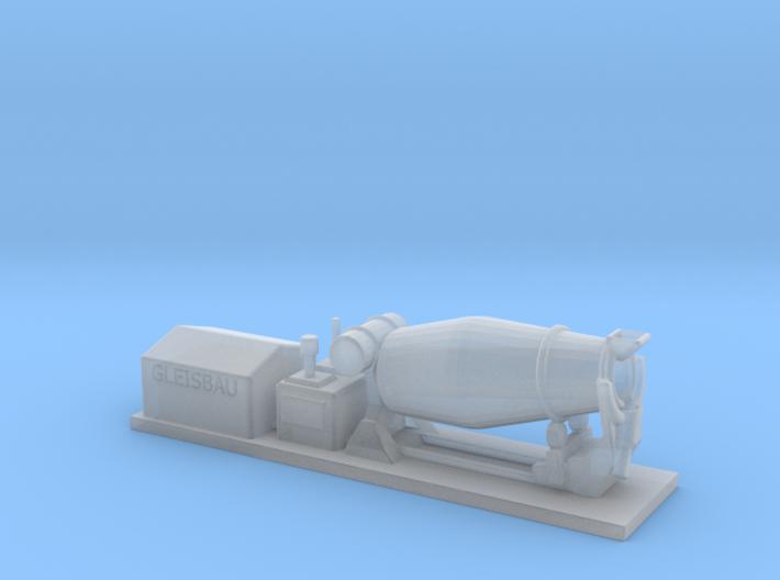 0007 Z Gauge 1:220 Aufbau Gleisbau Betonmischer  3d printed