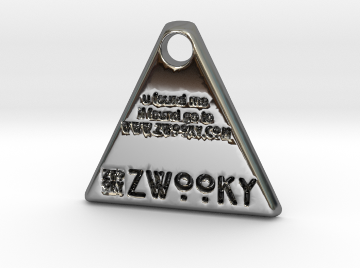 ZWOOKY Style 35 - u found me / pet tag - bail 3d printed