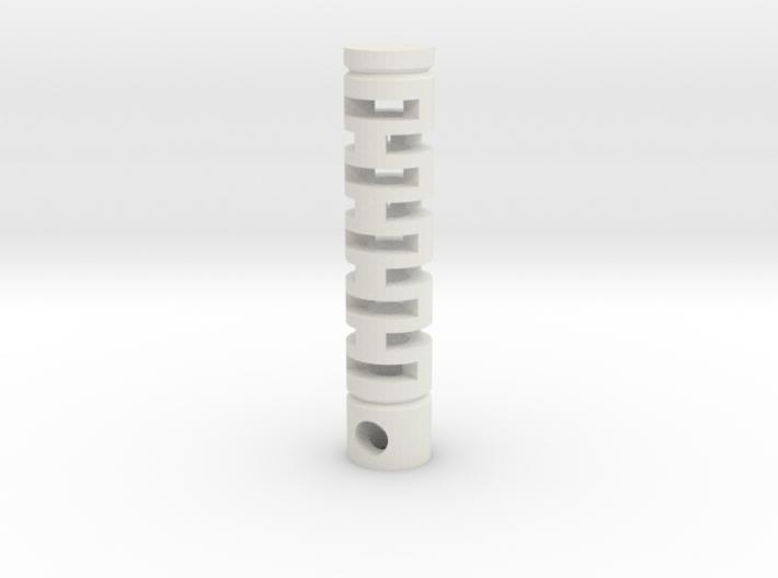 Tritium Vial Keychain 3d printed