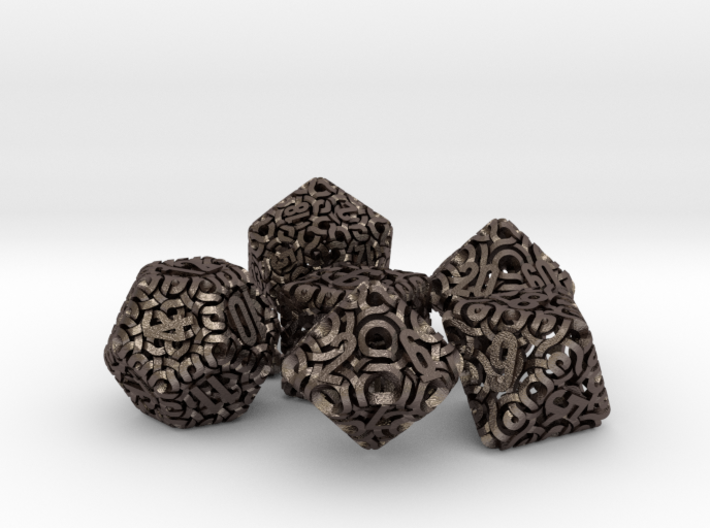 Ring Dice Set With Decader 3d printed