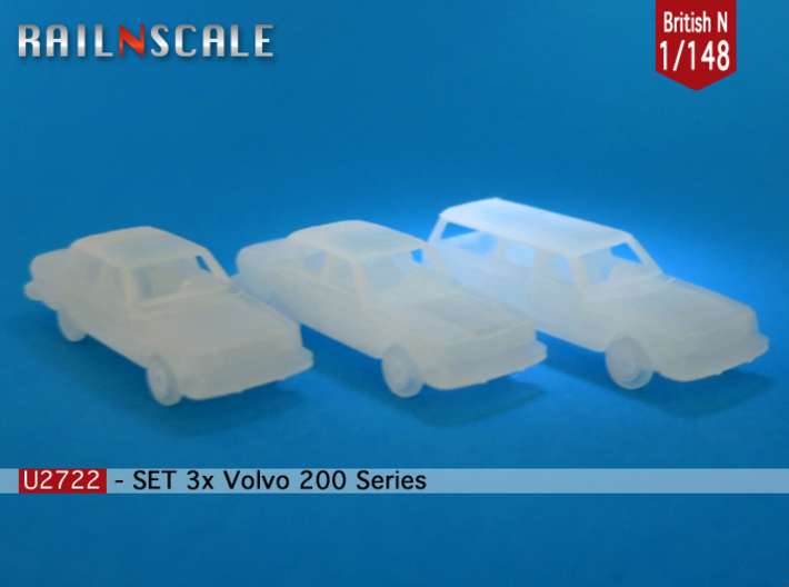 SET 3x Volvo 200-series (British N 1:148) 3d printed