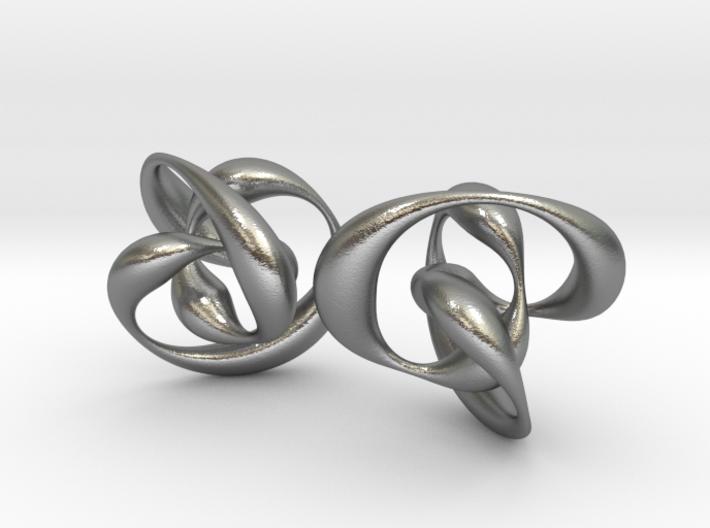 Knots earrings 3d printed