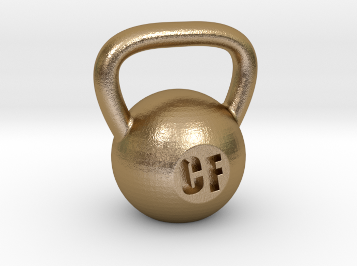 Crossfit Kettlebell Weight Pendant and Keychain 3d printed