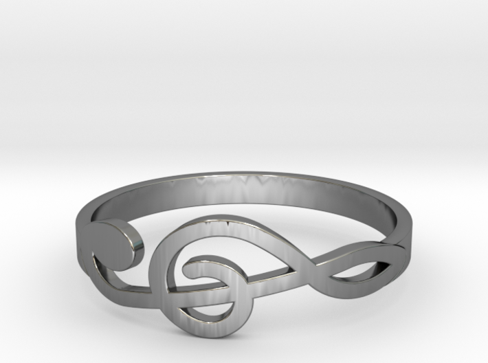 Size 10 G-Clef Ring 3d printed