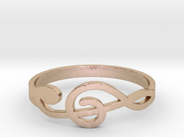 Size 9 G-Clef Ring 3d printed