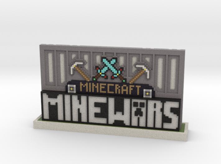 MineWars Logo Desktop Trinket 3d printed