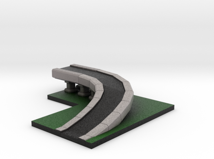 5 x 4 Highway Ramp 3d printed