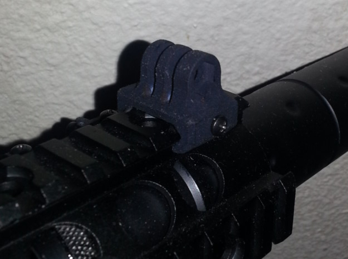 GoPro 1913 Mount 3d printed Mounted on one of my airsoft replicas.