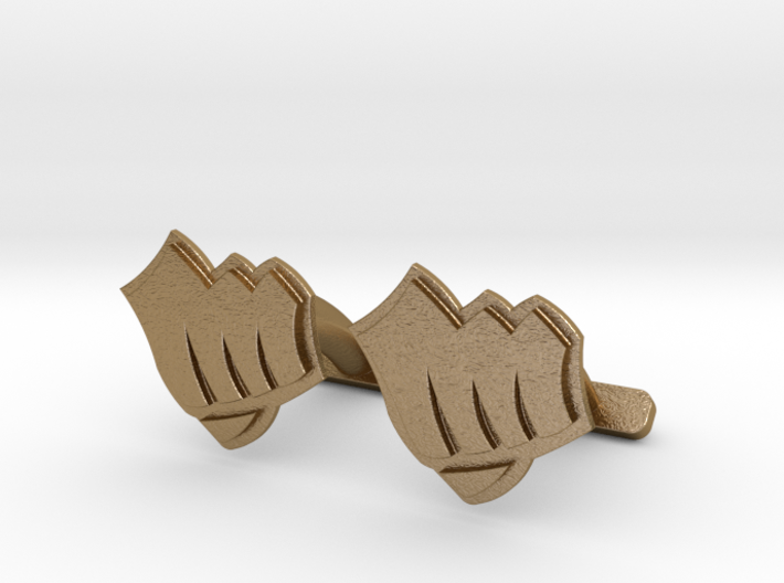 Riot Fist Cufflinks 3d printed