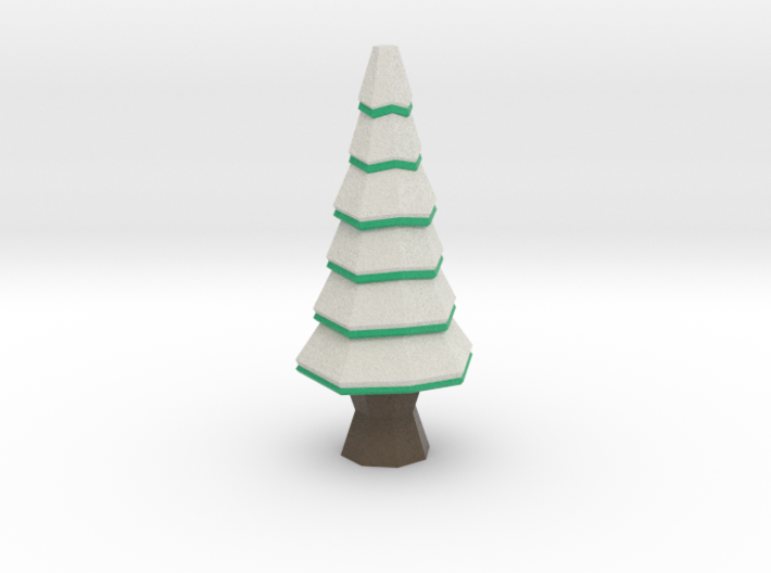 Low-Poly Snowy Tree [3.3 in] 3d printed