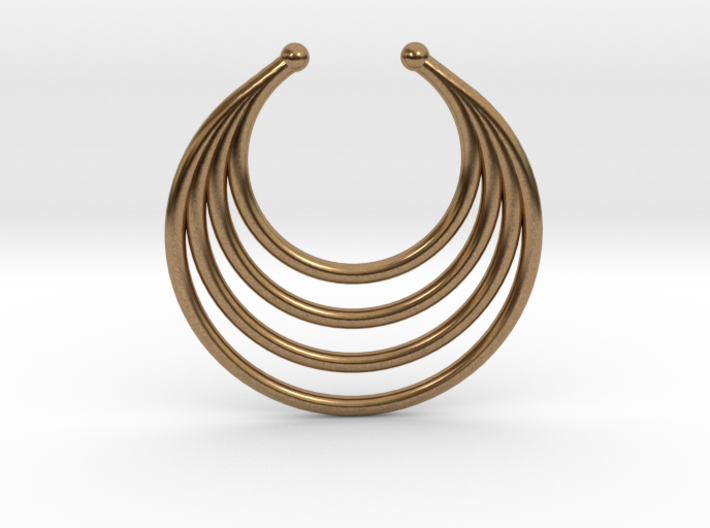 Faux Septum - Dropped Rings (medium) 3d printed