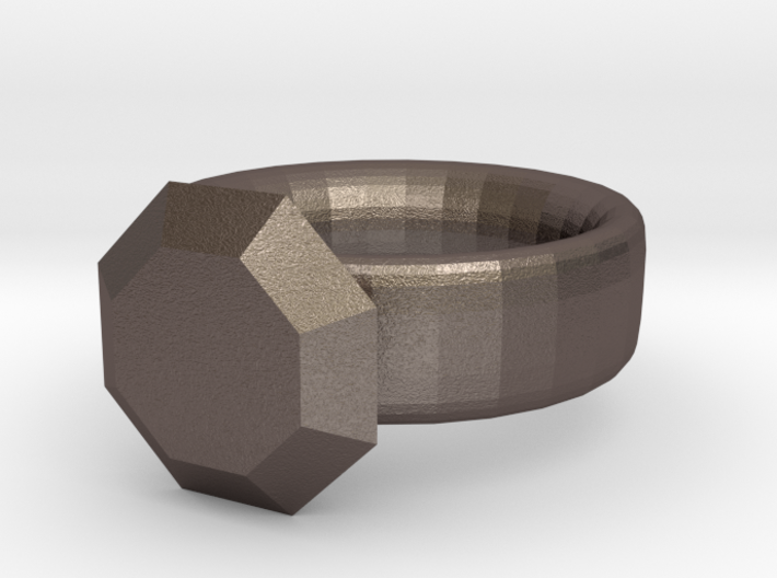 pesudo gold and diamond ring 3d printed