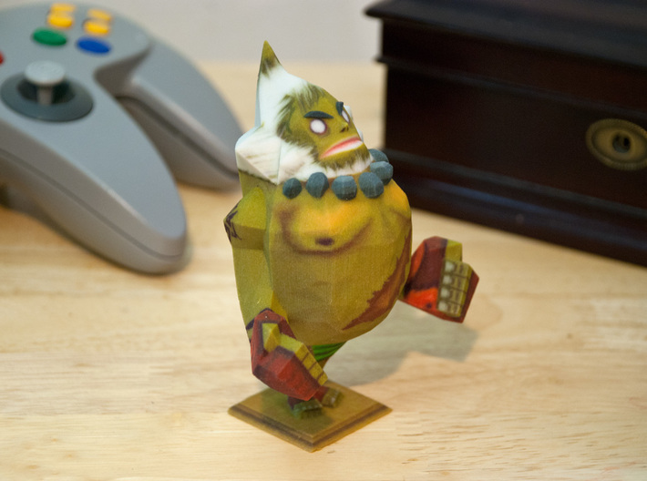 Goron Statue from Zelda Majora's Mask 3d printed This Goron statue printed so well! All the tattoos and details and colors look great!