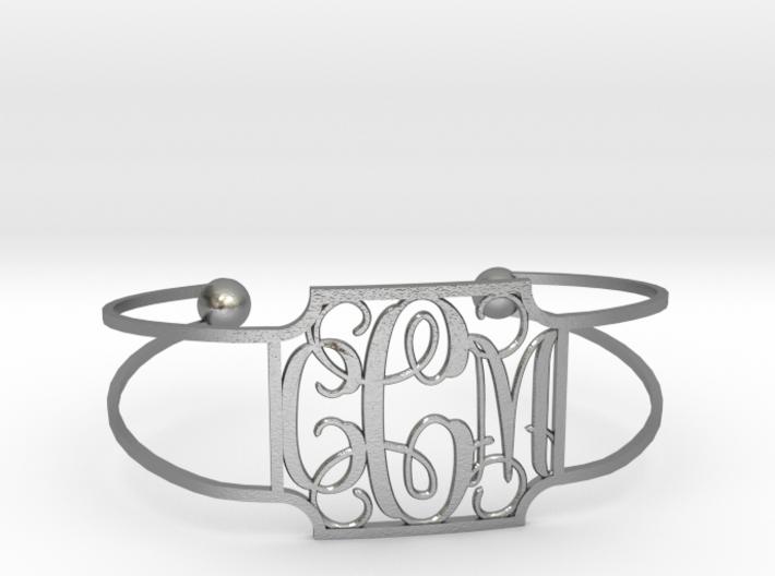 Monogram Bracelet 3d printed