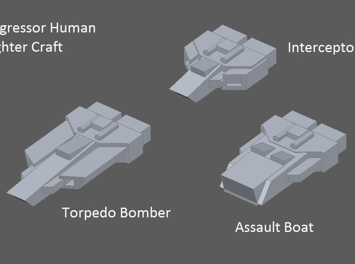 8 Aggressor torpedo bombers 3d printed faction preview