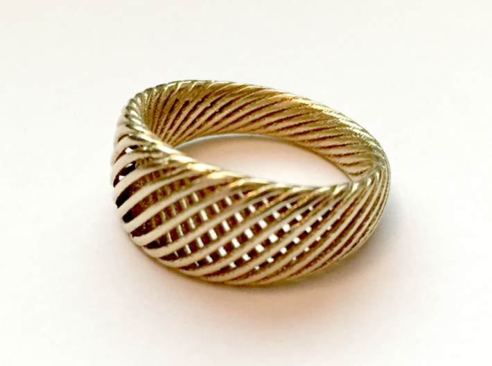 Twisted Ring - Size 4 3d printed